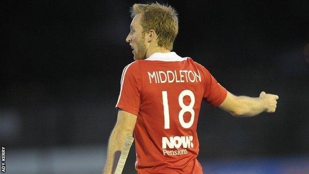 Great Britain captain Barry Middleton scored his team's opening goal
