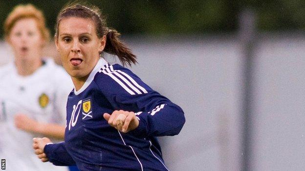 Scotland striker Julie Fleeting