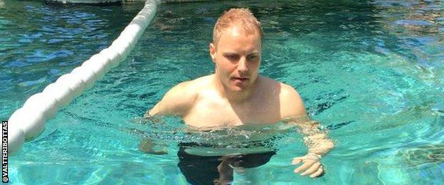 Valtteri Bottas steps up his back injury recovery