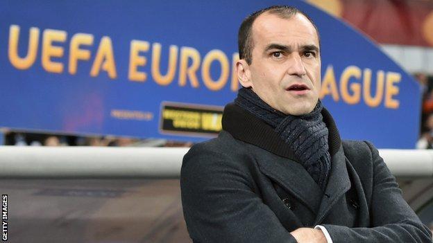 Roberto Martinez of Everton