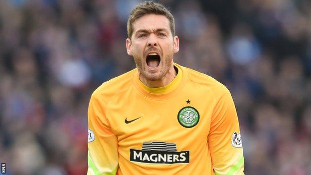 Craig Gordon in action for Celtic
