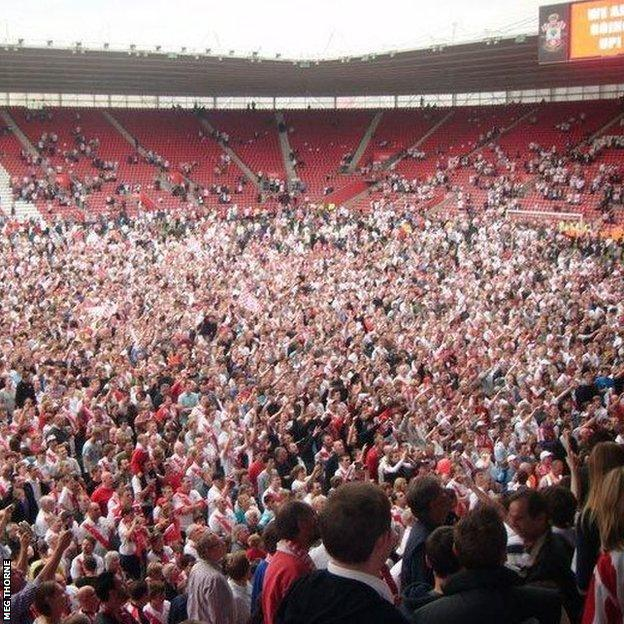 Southampton's promotion to the Premier League