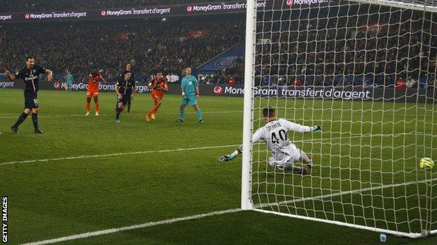 Zlatan Ibrahimovic scores a penalty