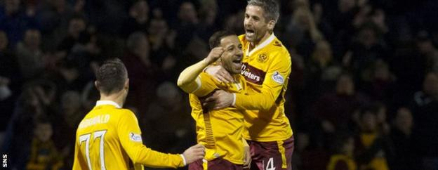 """Ian Barraclough hailed his Motherwell side's 4-0 derby win as """"a sweet one for our fans"""""""
