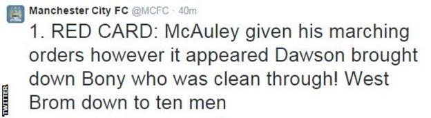 Manchester City Twitter