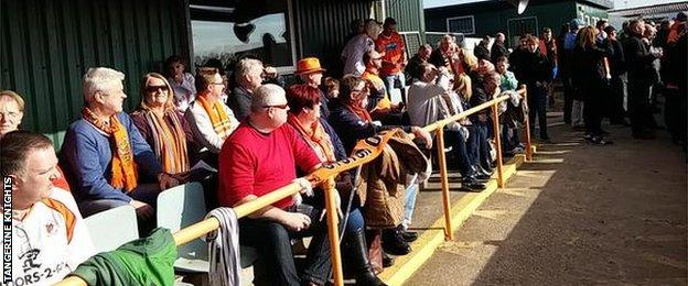 Blackpool fans watching AFC Blackpool