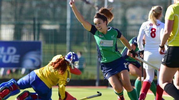 Anna O'Flanagan celebrated another international goal