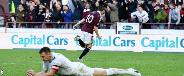 Hearts have defeated Rangers home and away this season