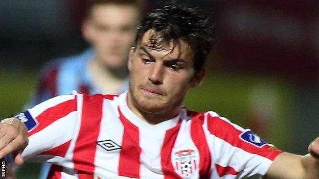 Philip Lowry scored Derry City's goal in the draw away to Sligo Rovers