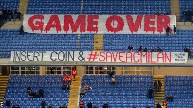 AC Milan banners