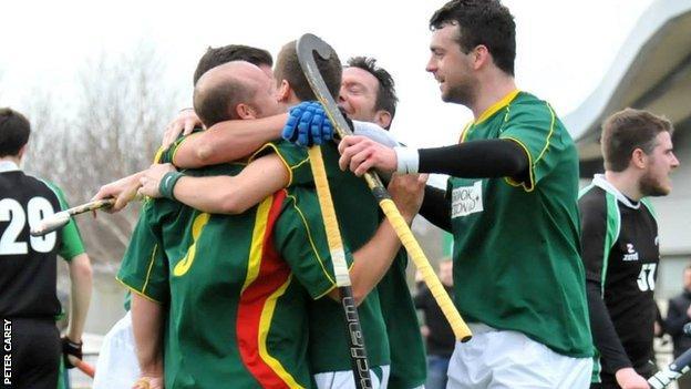 Guernsey celebrate a goal