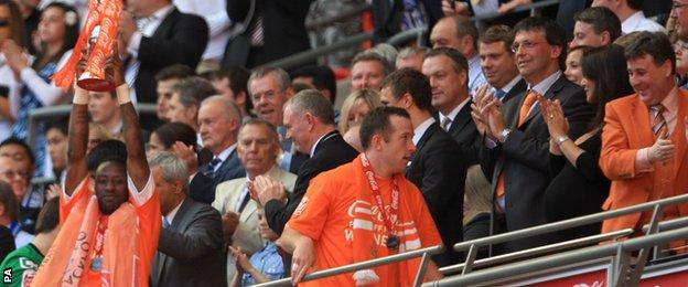 Blackpool win promotion to the Premier League, Wembley 2010