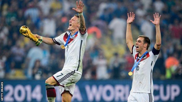 Phillip Lahm and Bastian Schweinsteiger
