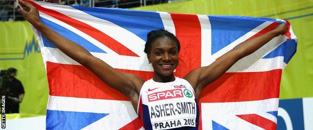 Dina Asher-Smith combines sprinting with university studies