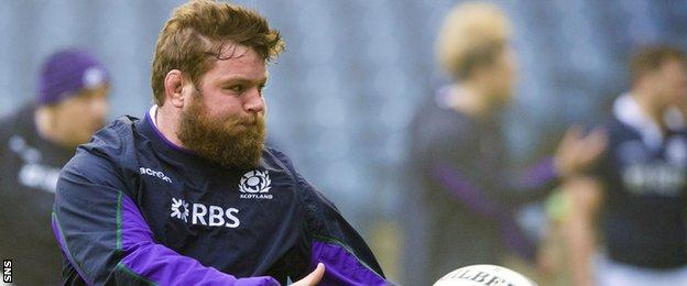 Scotland forward Jon Welsh