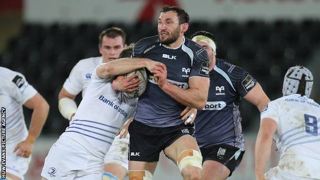 Ospreys back-row Joe Bearman joined Newport Gwent Dragons from Cornish Pirates in 2005