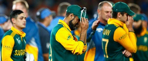 South Africa show their despair