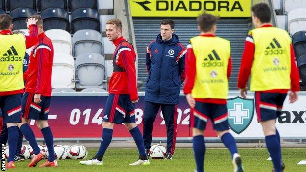 Former Scotland defender Gary Caldwell has been helping with training