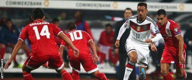 Gibraltar lost 4-0 to Germany in Nuremberg