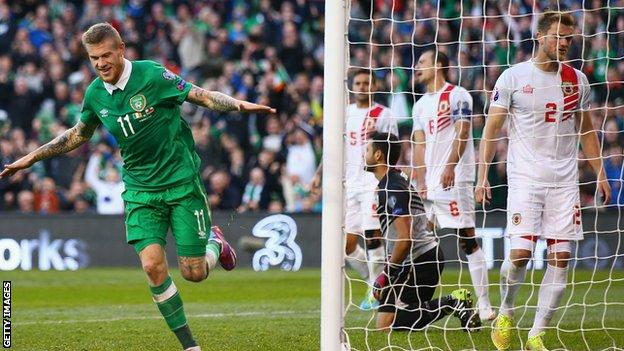 Gibraltar shipped seven goals on their Group D trip to Dublin