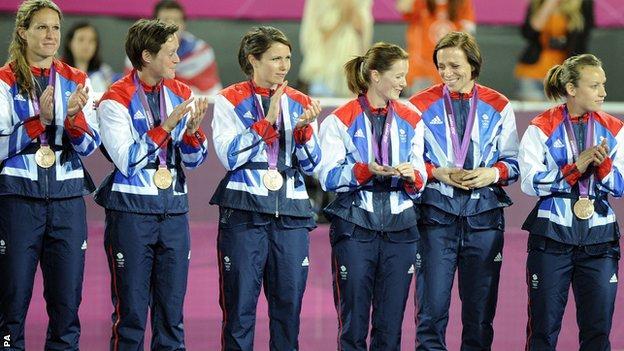 GB women's hockey team