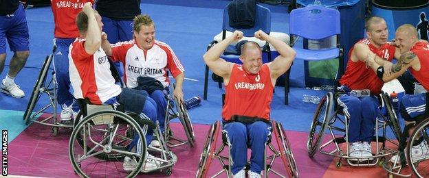 Wheelchair basketball Team GB Athens