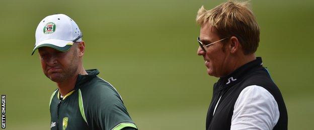 Australia captain Michael Clarke and former spinner Shane Warne
