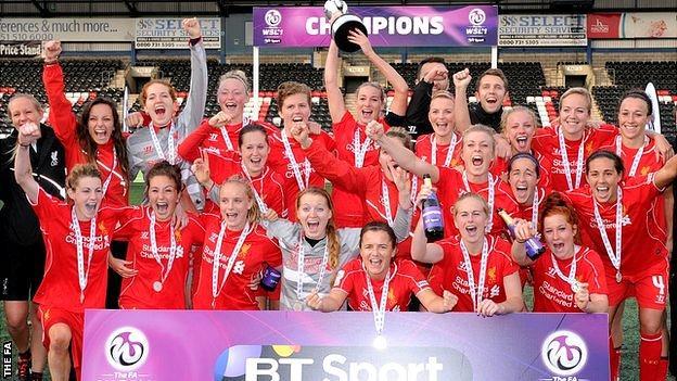 Liverpool WSL champions 2014