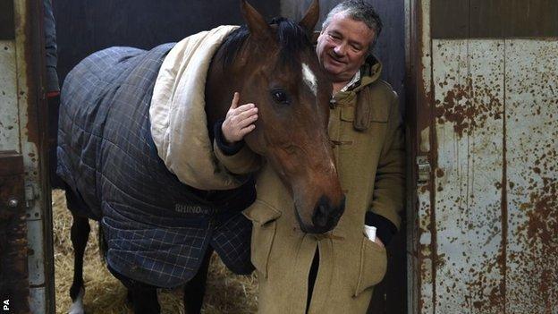 The New One with trainer Nigel Twiston-Davies