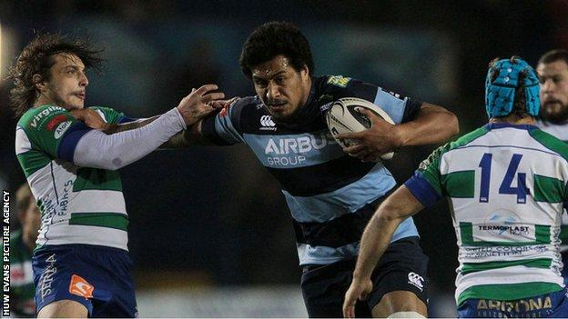 Filo Paulo in action for Blues against Treviso