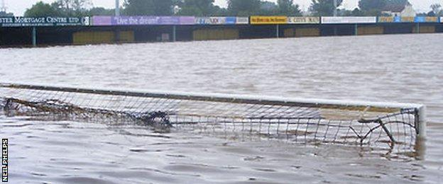 Gloucester City's flooded ground
