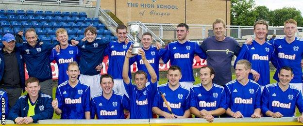 Kyles Athletic are hoping to land more silverware this season