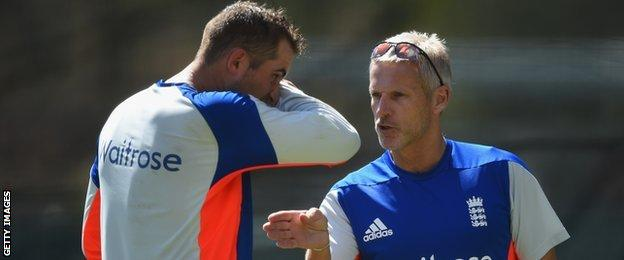 Alex Hales (left) and Peter Moores