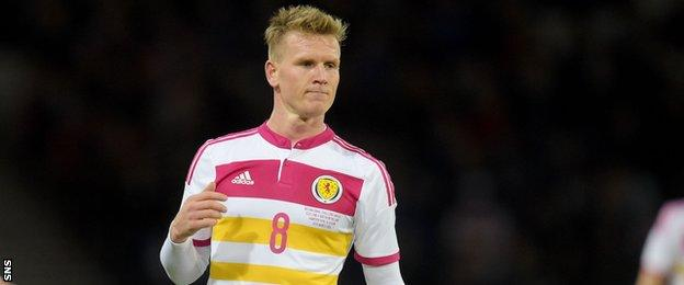 Bournemouth's Matt Ritchie made his Scotland debut, his first trip north of the border