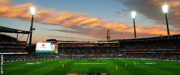 A view of the ground in Sydney as India begin their run-chase