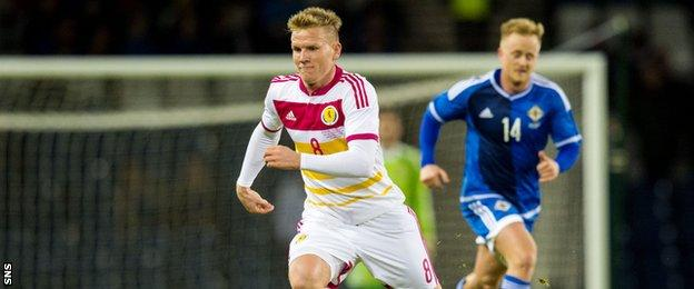 Bournemouth's Matt Ritchie made his debut against Northern Ireland