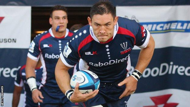 Gareth Delve captained Melbourne Rebels during his time with the Australian team