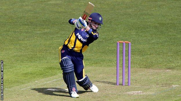 Acting captain Mark Wallace top-scored for Glamorgan with 64