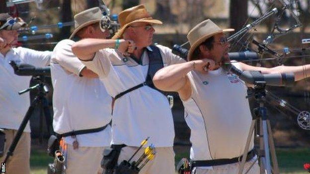 Guernsey archery team