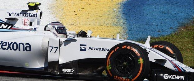 Valtteri Bottas was fifth fastest in second practice