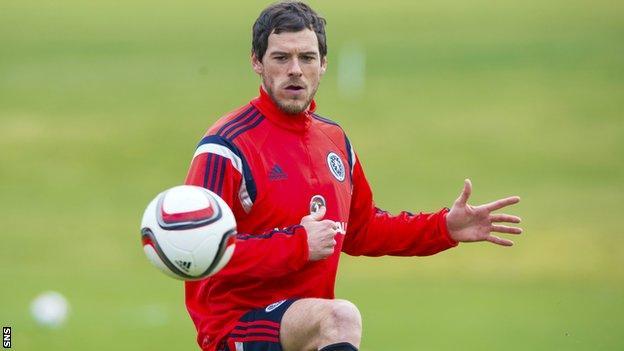 Scotland defender Gordon Greer