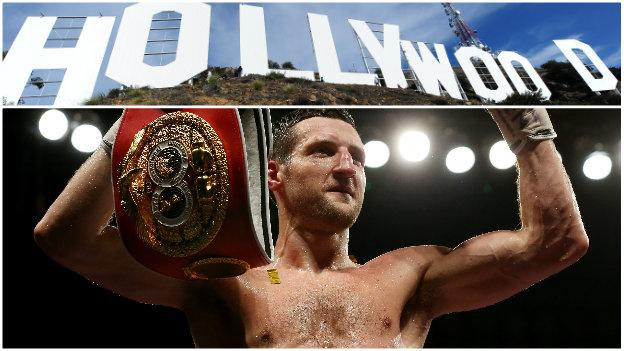 Carl Froch and the Hollywood sign