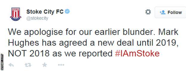 Stoke City tweet