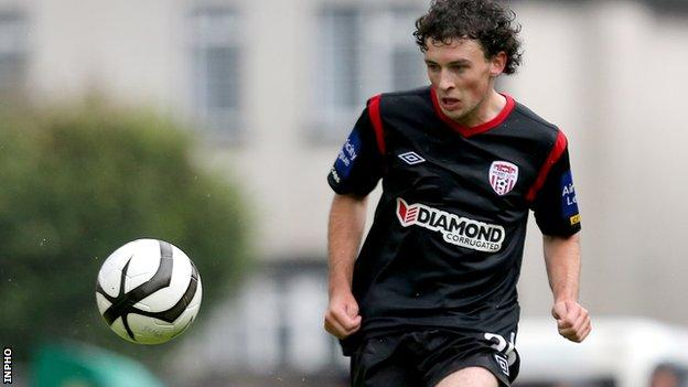 Barry McNamee scored on his 100th Derry appearance