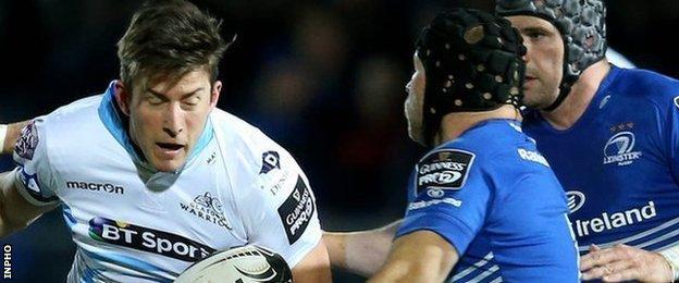 DTH van der Merwe of Glasgow Warriors on the attack against Leinster