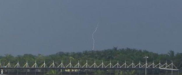 Lightning at the Malaysian grand prix