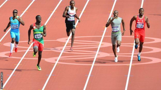 Daundre Barnaby at the London Olympics