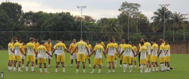 Local team Brasilense during training