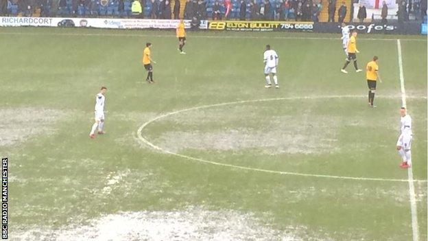 Poor pitch at Bury