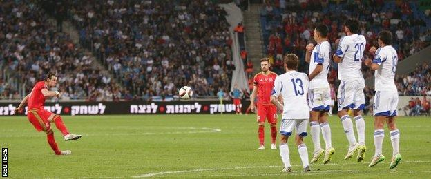 Garth Bale scores for Wales